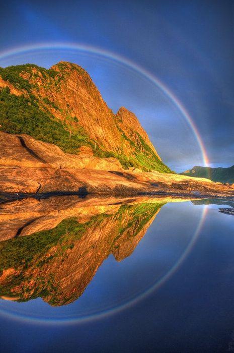 Full Circle Reflected Rainbow, Senja, Troms, Norway