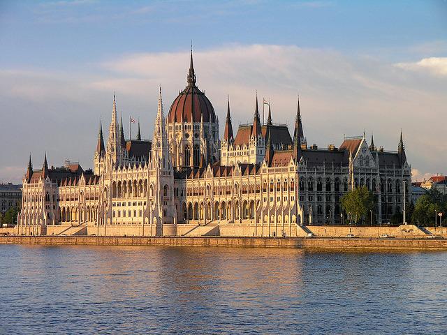 The Parliament building - Budapest, Hungary.
