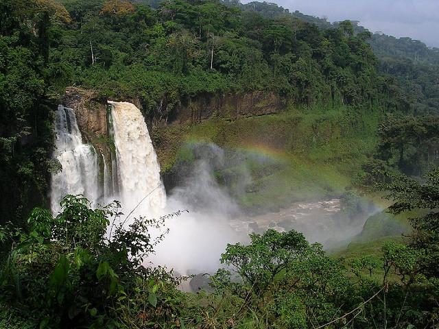 Ekom Waterfall - Western Africa, Cameroon.