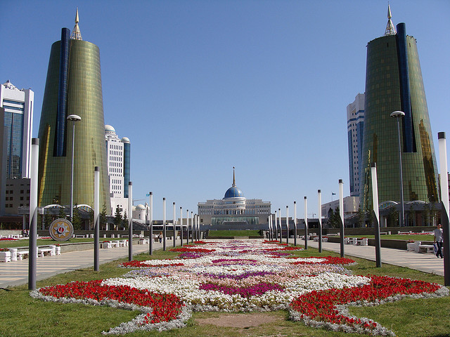 by jason.risley on Flickr.The way to Ak Orda Presidential Palace - Astana, the capital city of Kazakhstan.