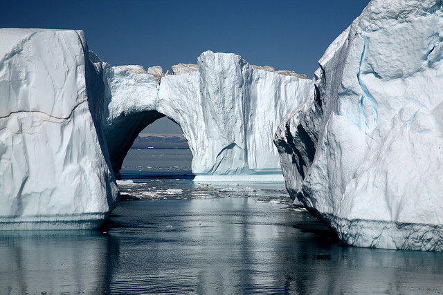 by S Benson on Flickr.Iceberg from Jakobshavn Glacier, a large outlet glacier in West Greenland.
