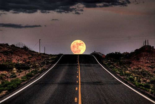 Moonrise Highway, Baja, Mexico