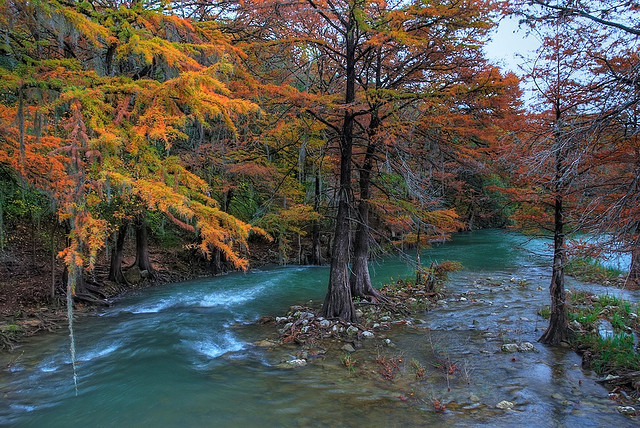 by Jim Nix / Nomadic Pursuits on Flickr.Guadalupe River near Gruene in Comal County, Texas, USA.