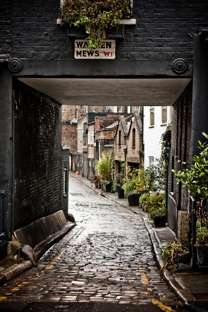 Cobblestone Street,  London, England