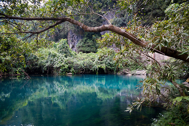 by Andreas Stephan on Flickr.Beautiful karstic rivers of Phong Nha Ke-Bang National Park in Vietnam.
