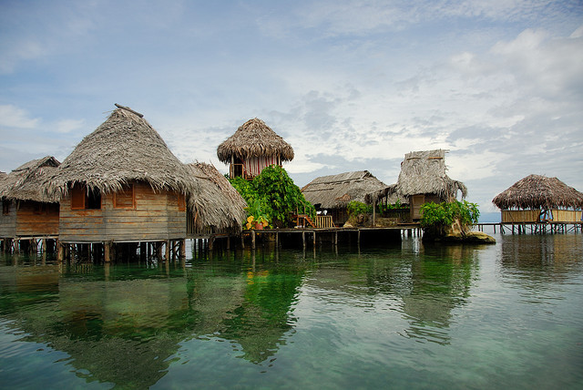 by angelfinder on Flickr.Eco Lodge on the water in Bocos Del Toro, Panama.