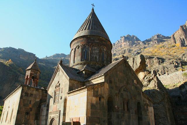 by Leoniedas on Flickr.Geghard monastery, a Unesco World Heritage Site in Armenia.