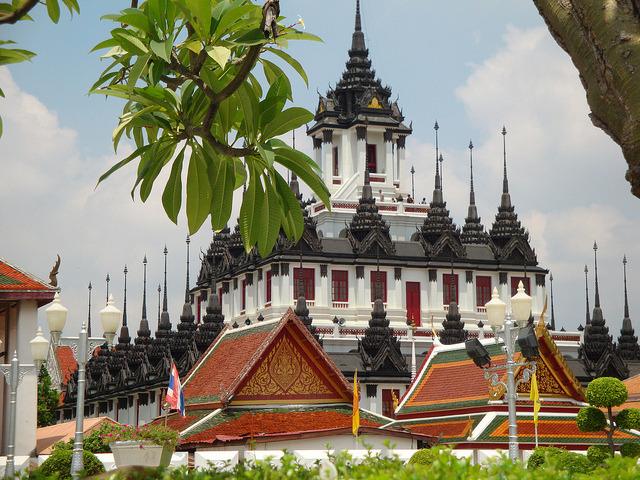 by mimmis.olsson on Flickr.Loha Prasat in Wat Ratchanaddaram temple, Bangkok, Thailand.