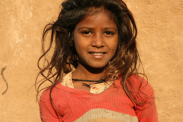 Young faces of the world - hindu girl from Udaipur