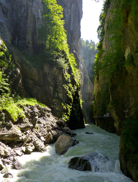 Aar river gorge near Meiringen, Switzerland