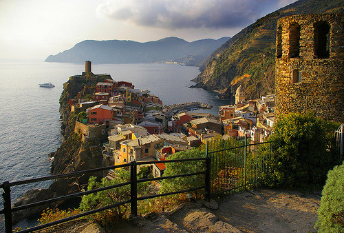 Sunset, Vernazza, Italy