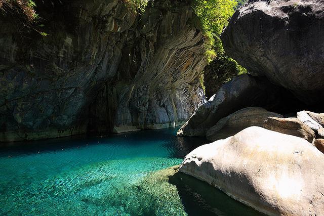 Amazing waters of Taroko Gorge, Hualien, Taiwan