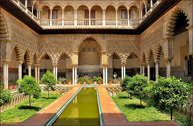 Patio de las Doncellas, Sevilla Alcazar, Spain
