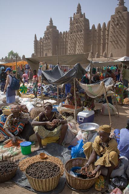 Market day in Djenne, Mali