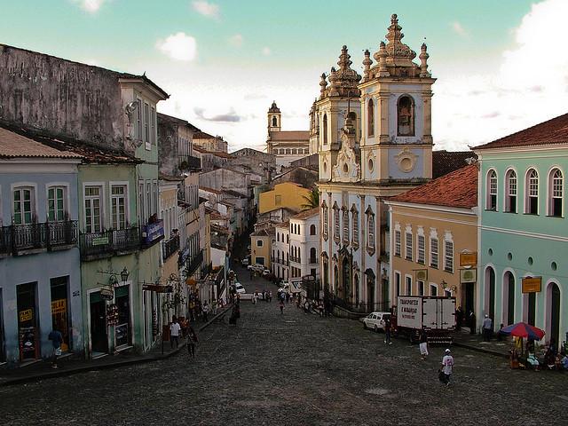 The streets of the Pelourinho district, Salvador, Brazil