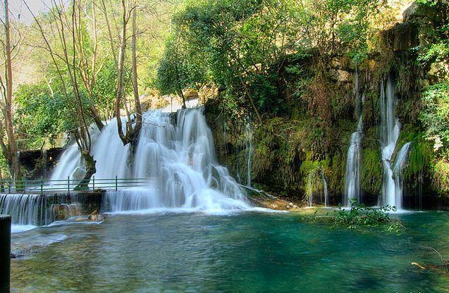 Beautiful waterfalls on Baakleen river, Lebanon