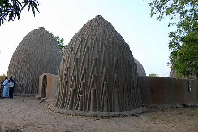 Traditional mud houses in Pouss village, northern Cameroon