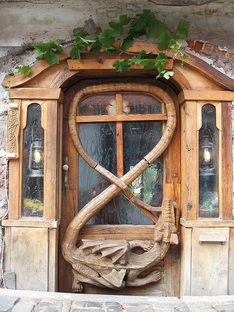 Dragon Door, Krumlov, Czech Republic