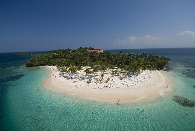 Cayo Levantado in Samana Bay, Dominican Republic