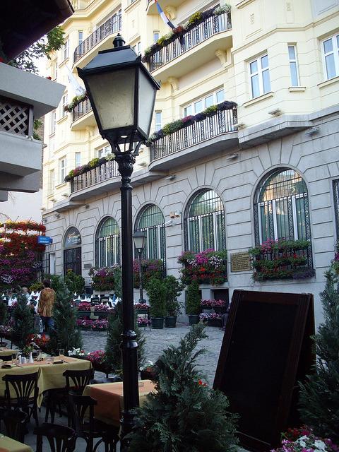 Skadarlija street in Belgrade, Serbia