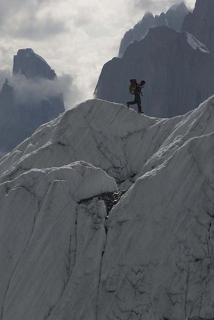 On the ridges of Gasherbrum II, Karakorum Mountains, Pakistan