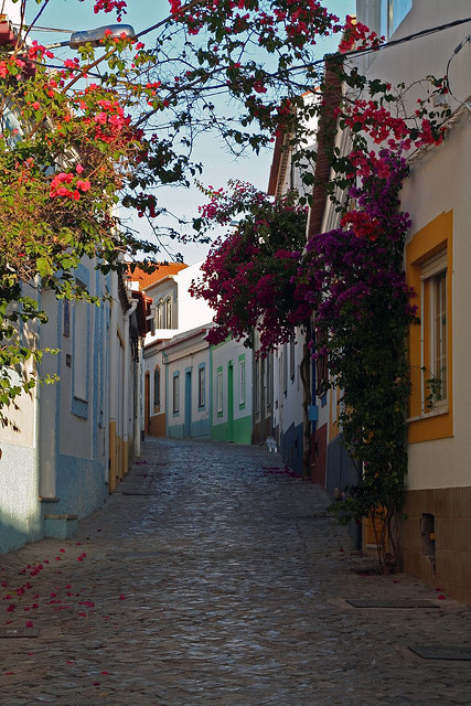 Lovely street in Ferragudo, Algarve Coast, Portugal . This one is for Gabriela and Nic :)