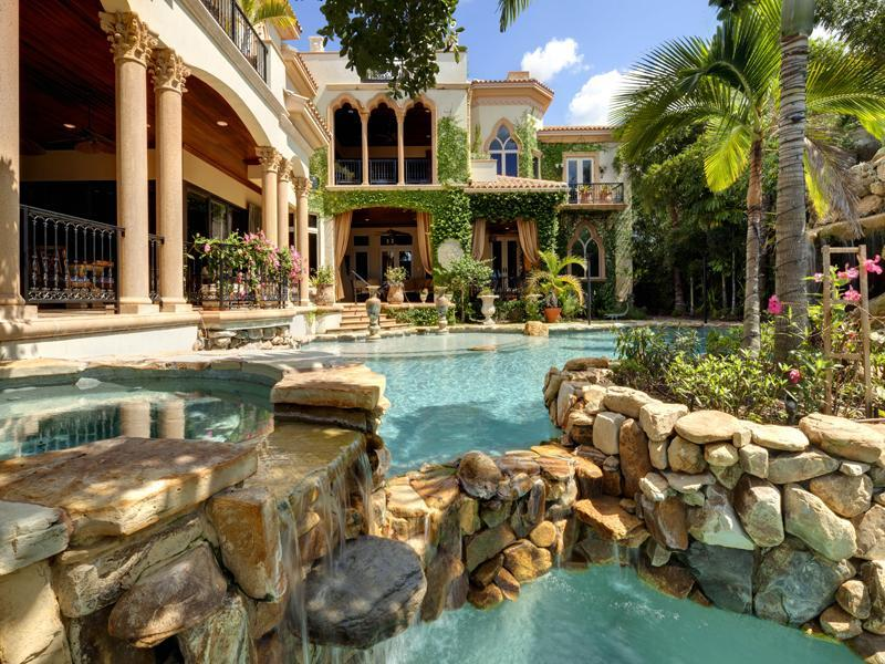 Mediterranean mansion with moorish flair in Sarasota, Florida, USA