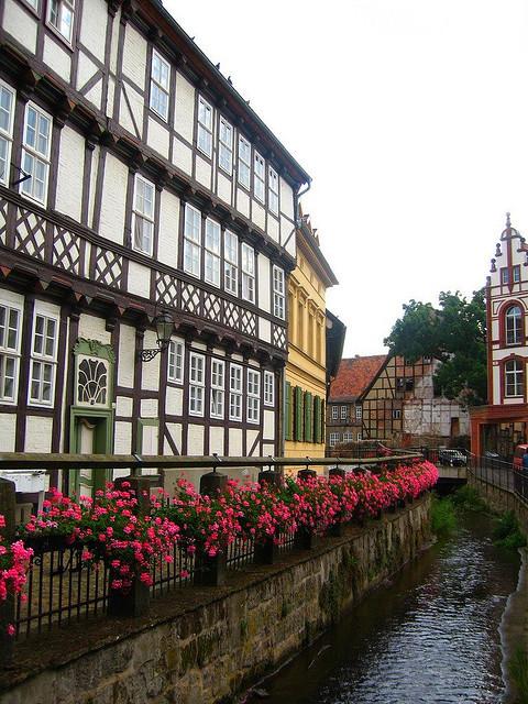 Half-timbered buildings in Quedlinburg, Saxony-Anhalt, Germany