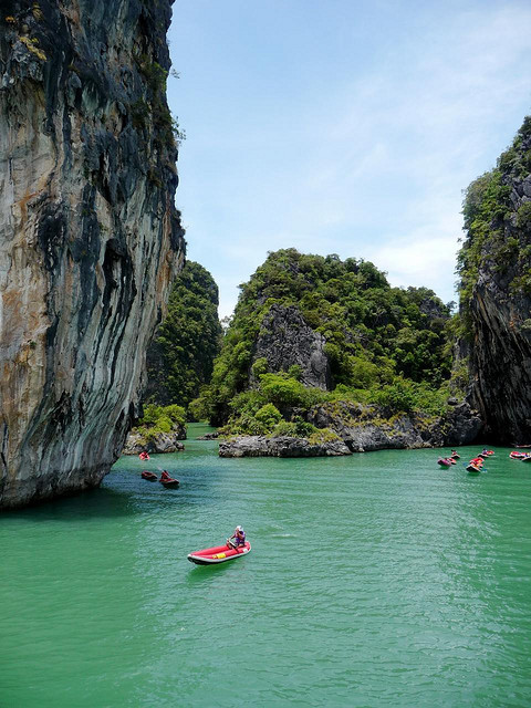 Sea kayaking in Ko Hong Island, Phang Nga Bay, Thailand