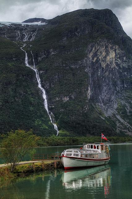 Loen Lake transport in Sogn og Fjordane county, Norway