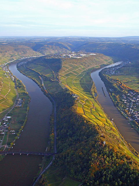 The Moselle Loop at Zell in Rhineland-Palatinate, Germany