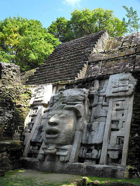 The Mayan ruins of Lamanai, Belize