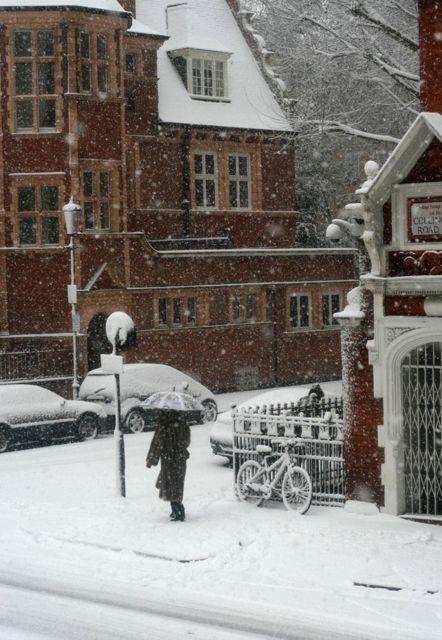 Snowy Day, London, England