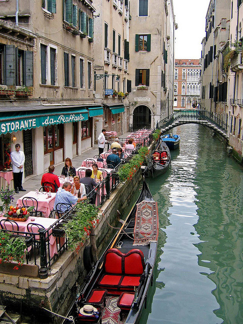 Canal Side Cafe, Venice, Italy