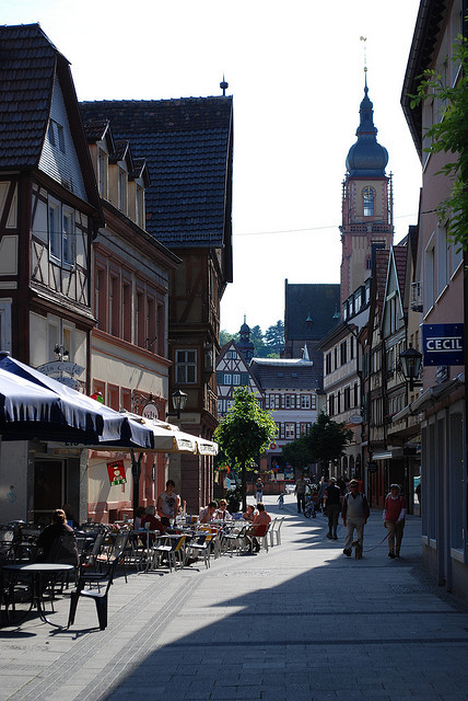Street life in Tauberbischofsheim, Germany