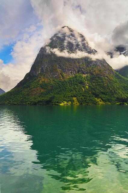 Oppstrynsvatnet Lake, near Stryn in western Norway