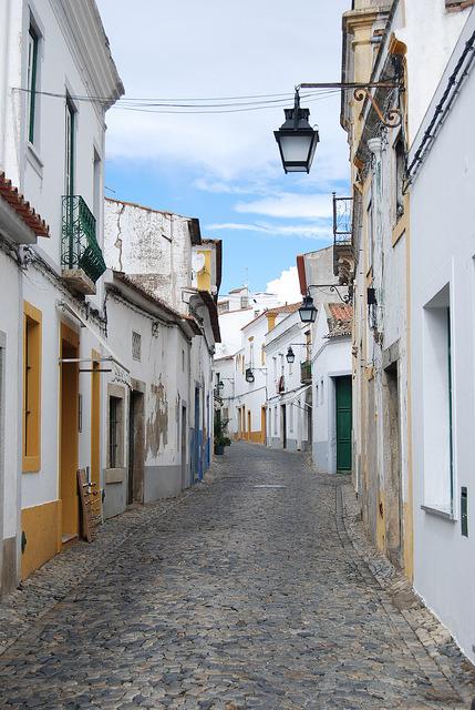 Street scene in Evora, Portugal