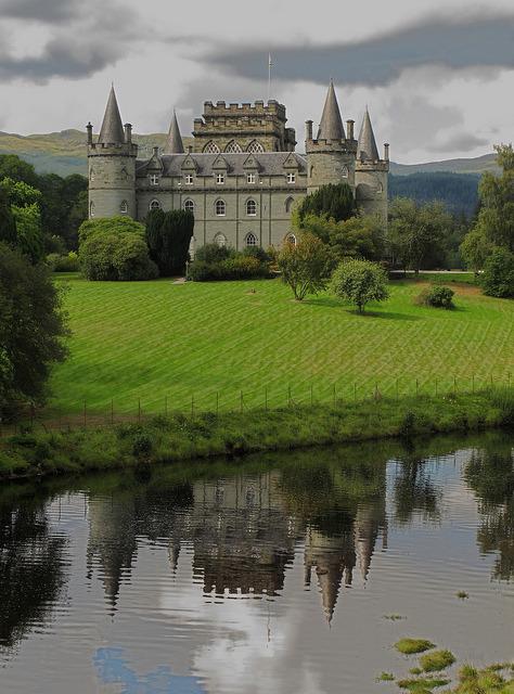 Inveraray Castle, ancestral home of the Duke of Argyll, Scotland