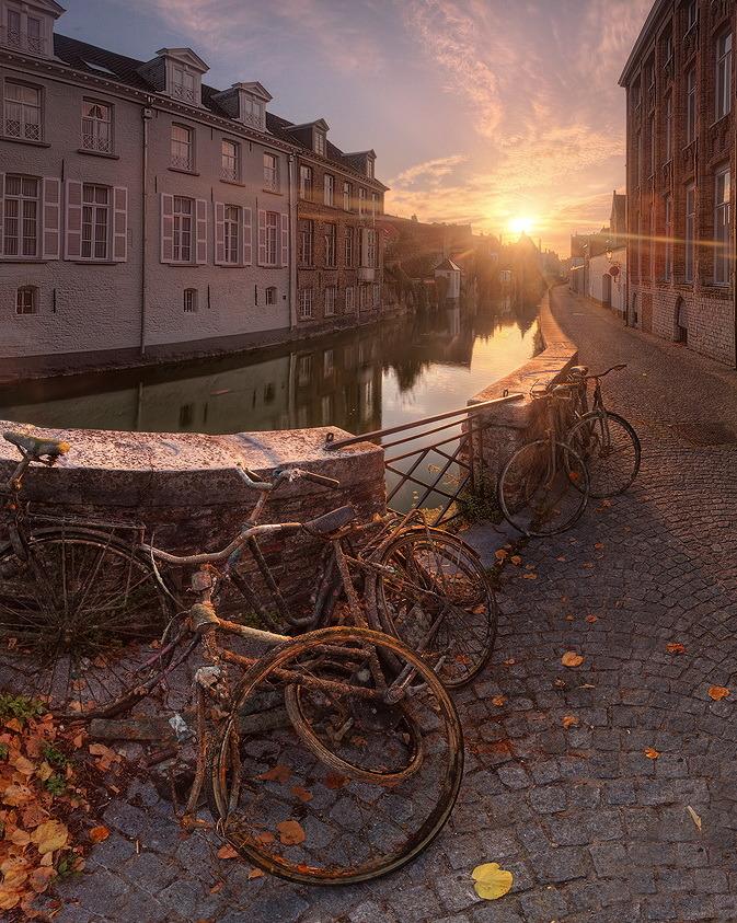 Rusty sunrise, Bruges, Belgium