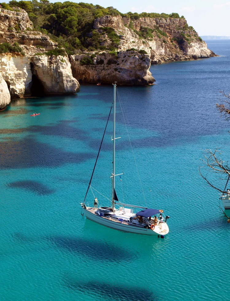 Beautiful Cala Macarella in Menorca Island, Spain