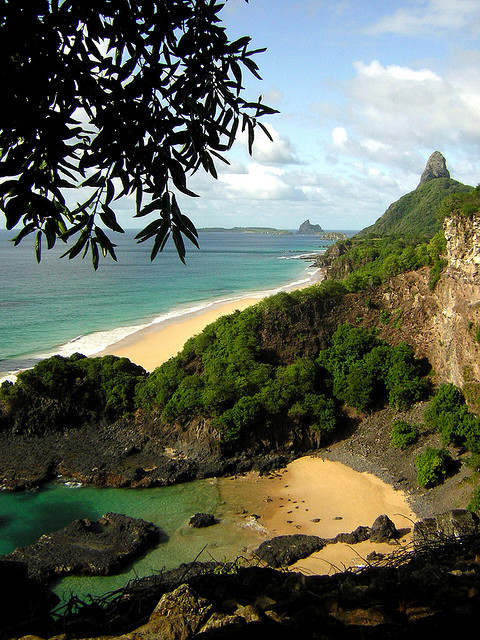 Secluded beach in Fernando de Noronha Archipelago, Brazil