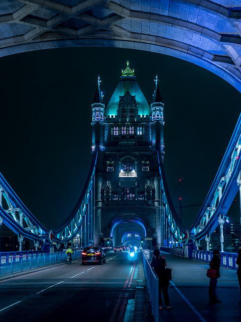 Blue hour at Tower Bridge, London / England