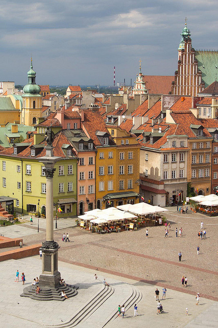 The historic centre of Warsaw / Poland