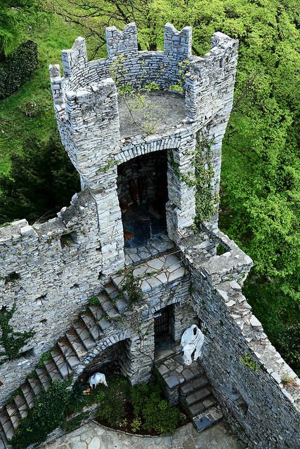 The tower of Castello di Vezio, northern Italy